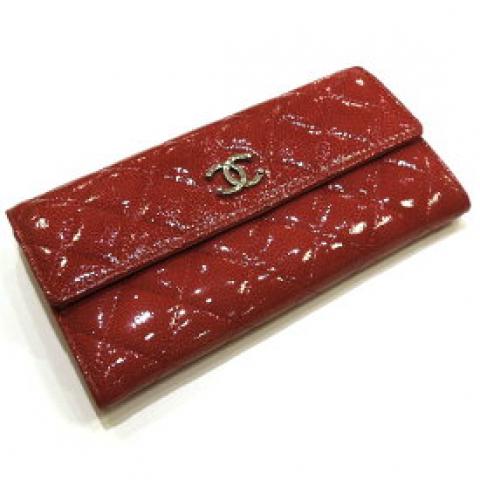 シャネルパリダラス 二つ折り長財布