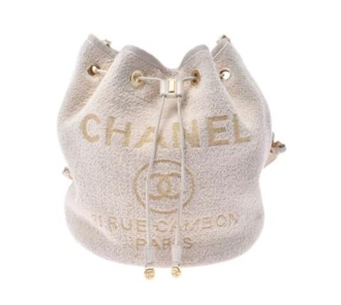 CHANEL シャネル ドーヴィル 巾着ショルダーバッグ